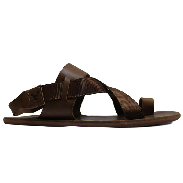 Vivobarefoot Kuru Leather Womens Sandals#color_acorn tan