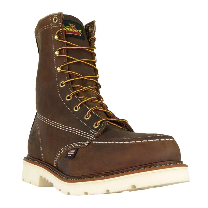 "Thorogood 8"" Moc Safety Toe Leather Mens Boots"