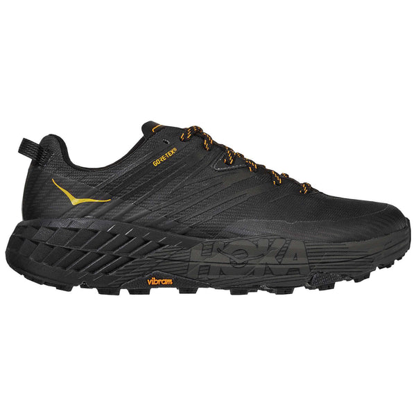 Hoka One One Speedgoat 4 GTX Textile Synthetic Mens Trainers#color_anthracite dark gull grey