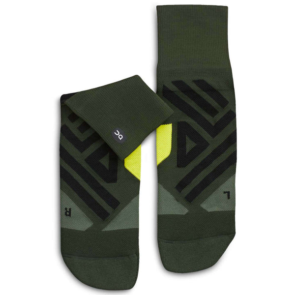 On Running Mid Sock Textile Mens Socks#color_jungle lime