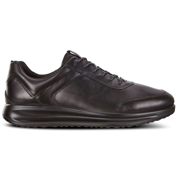 Ecco Aquet Leather Mens Shoes#color_black