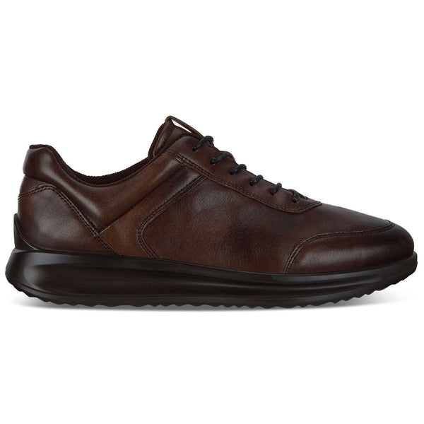 Ecco Aquet Leather Mens Shoes#color_cocoa brown