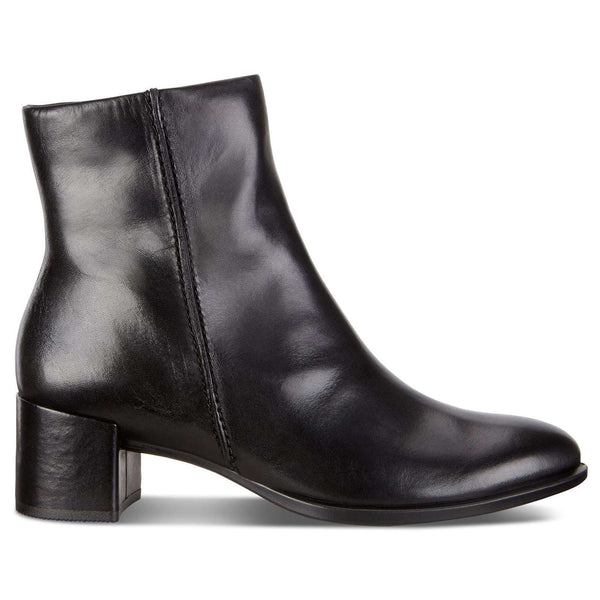 Ecco Shape 35 Block Leather Womens Boots#color_black