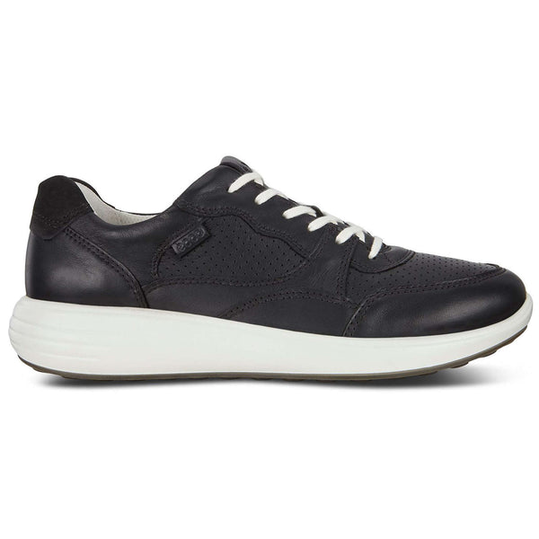 Ecco Soft 7 Runner Leather Womens Trainers#color_black