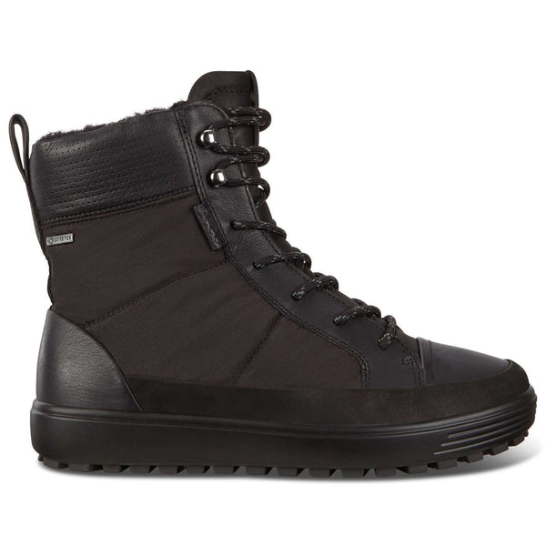 Ecco Soft 7 Tred Textile Womens Boots#color_black