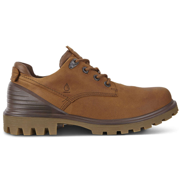 Ecco Tredtray Nubuck Mens Shoes#color_amber cocoa brown