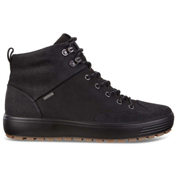 Ecco Soft 7 Tred Nubuck Mens Boots#color_black