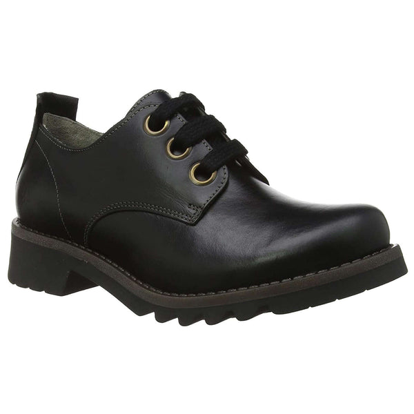 Fly London RUDA538FLY Rug Leather Womens Shoes#color_black