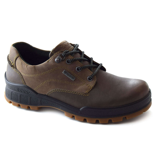 Ecco Track 25 831844 Leather Mens Shoes#color_dark clay coffee