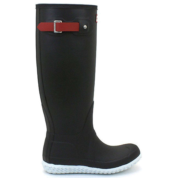 Hunter Original Tall Calendar Sole Rubber Womens Boots#color_black hunter red