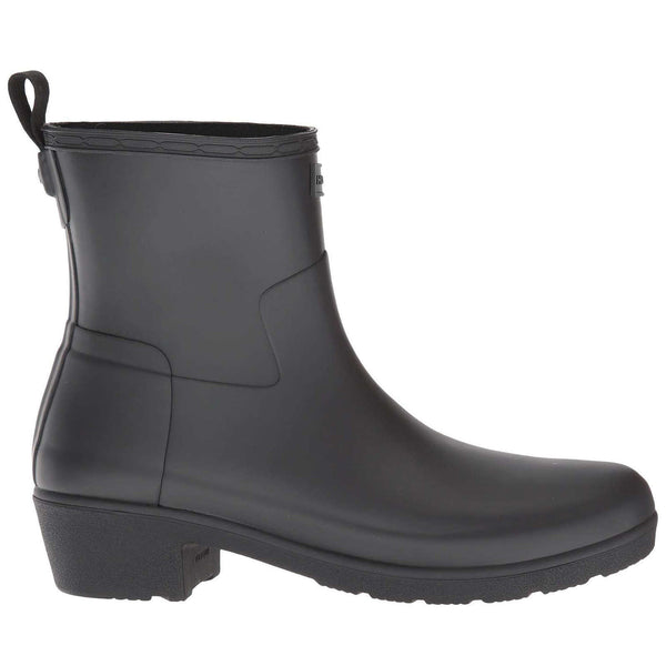 Hunter Refined Low Heel Rubber Womens Boots#color_black