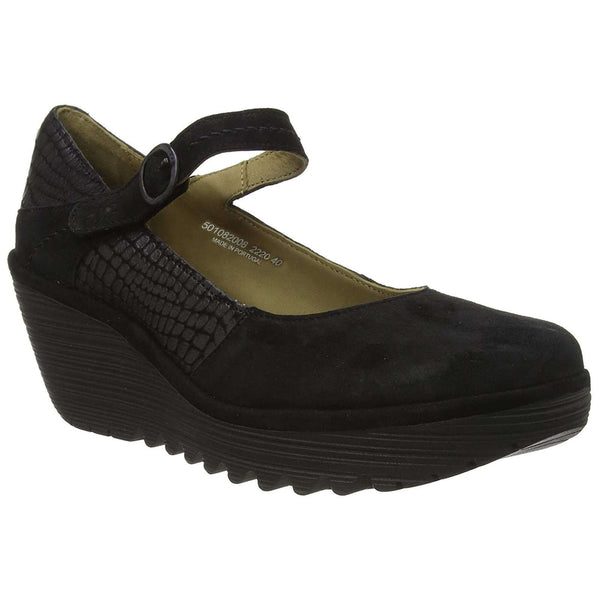 Fly London YUKO082FLY Leather Womens Shoes#color_black
