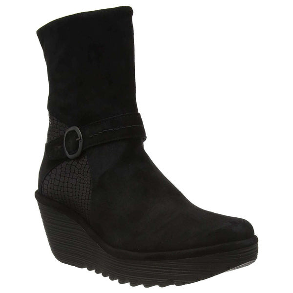 Fly London YOME083FLY Suede Leather Womens Boots#color_black