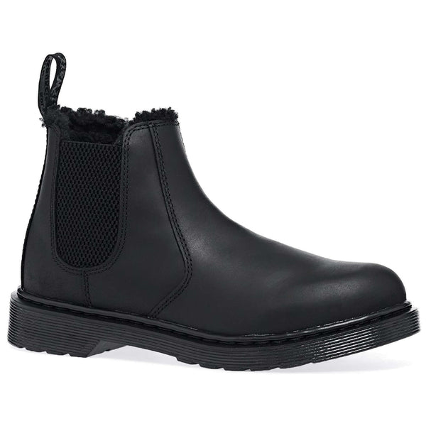 Dr. Martens 2976 Leonore Mono Republic WP Leather Youth Boots#color_black