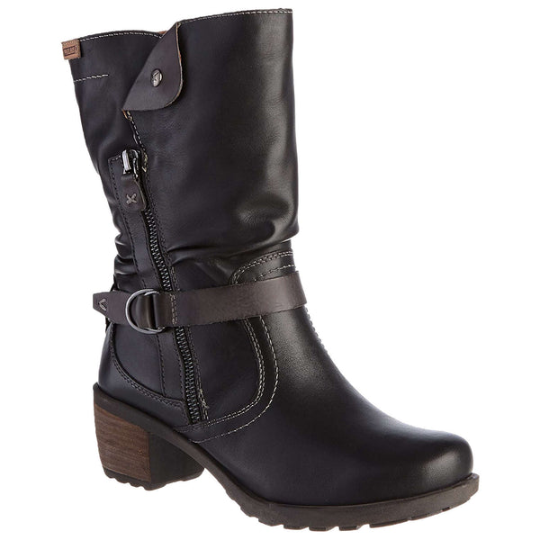 Pikolinos Le Mans 838 Leather Womens Boots#color_black