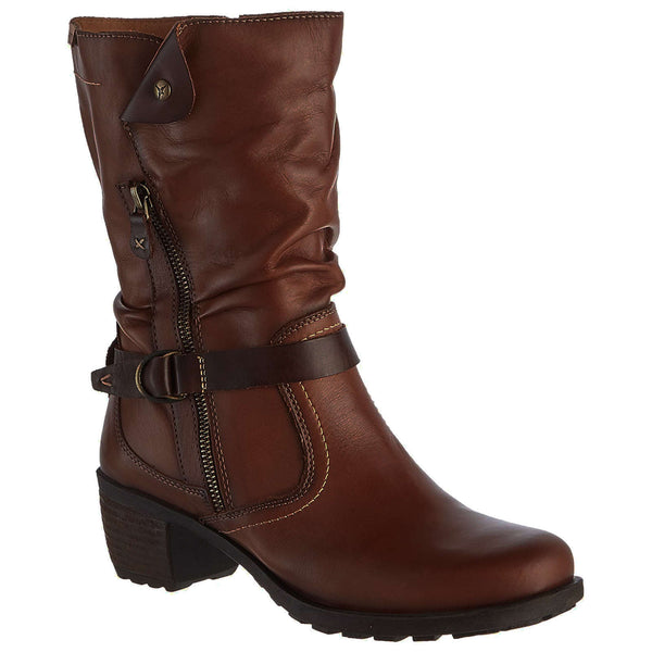 Pikolinos Le Mans 838 Leather Womens Boots#color_cuero