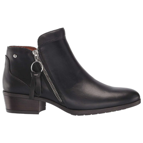 Pikolinos Daroca W1U-8590 Leather Womens Boots#color_black