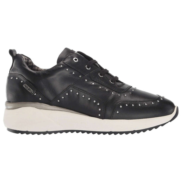 Pikolinos Sella W6Z Leather Womens Shoes#color_black