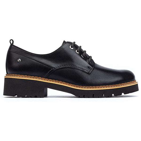 Pikolinos Vicar W0V-4991 Leather Womens Shoes#color_black