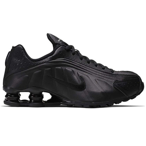 Nike Shox R4 GS Synthetic Youth Trainers#color_black