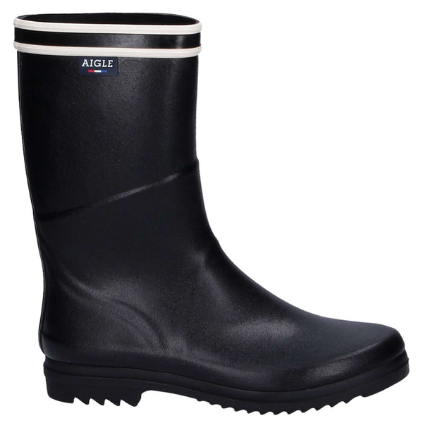 Aigle Chanteboot Stripes Rubber Womens Boots#color_black