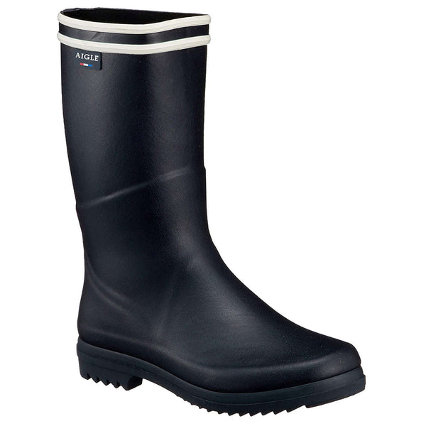 Aigle Chanteboot Stripes Rubber Womens Boots#color_marine