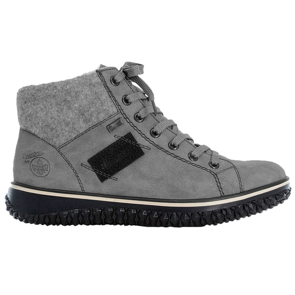 Rieker Z4230 Leather Womens Boots#color_grey