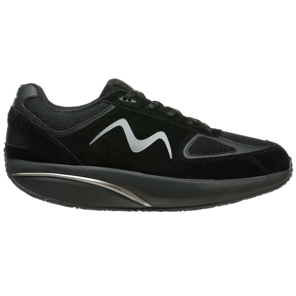 MBT MBT-2012 Suede Textile Mens Trainers#color_black