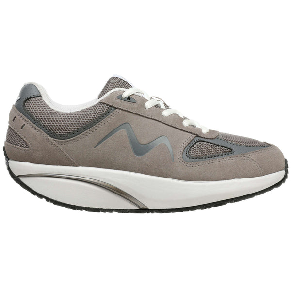 MBT MBT-2012 Suede Textile Mens Trainers#color_grey