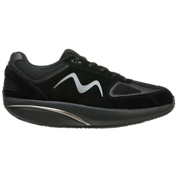 MBT MBT-2012 Suede Textile Womens Trainers#color_black