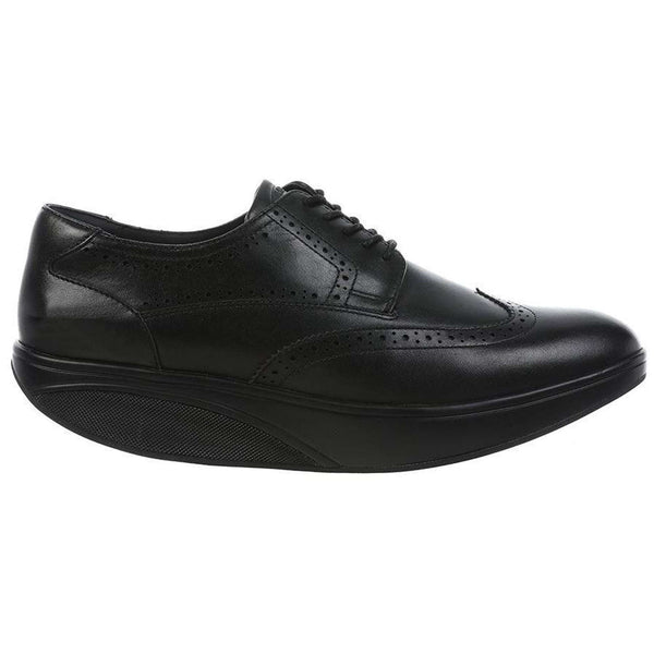 MBT Oxford Wing TIP Leather Mens Shoes#color_black