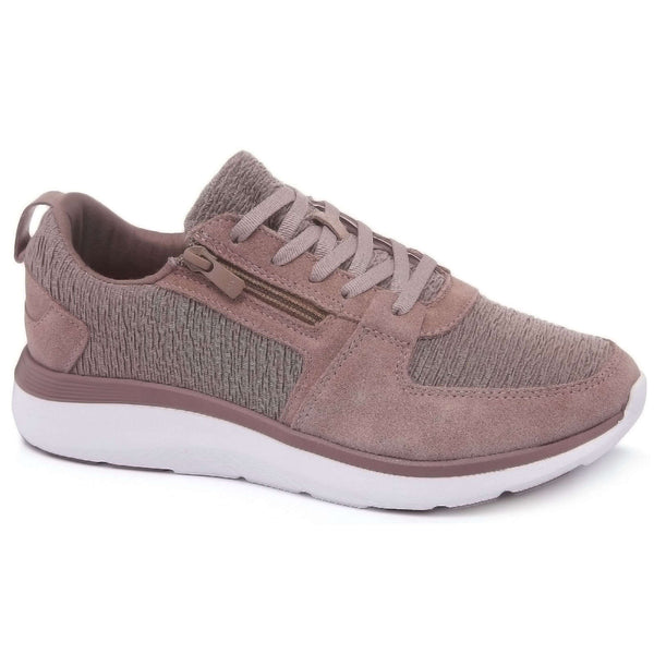 Vionic Delmar Remi Suede Textile Womens Trainers#color_blush