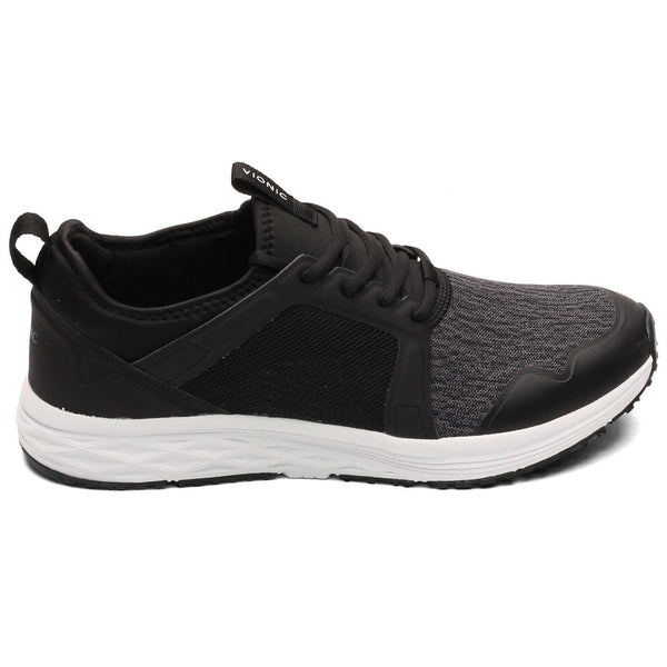 Vionic Fulton Dominic Textile Synthetic Mens Trainers#color_black