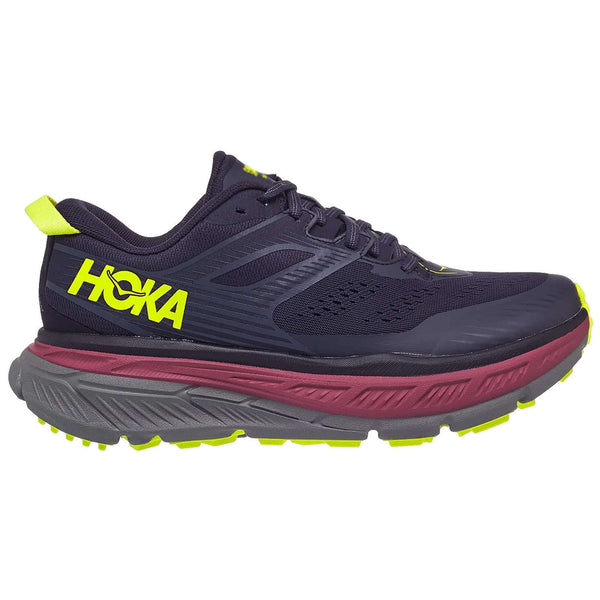 Hoka One One Stinson ATR 6 Textile Synthetic Womens Trainers#color_deep well evening primrose