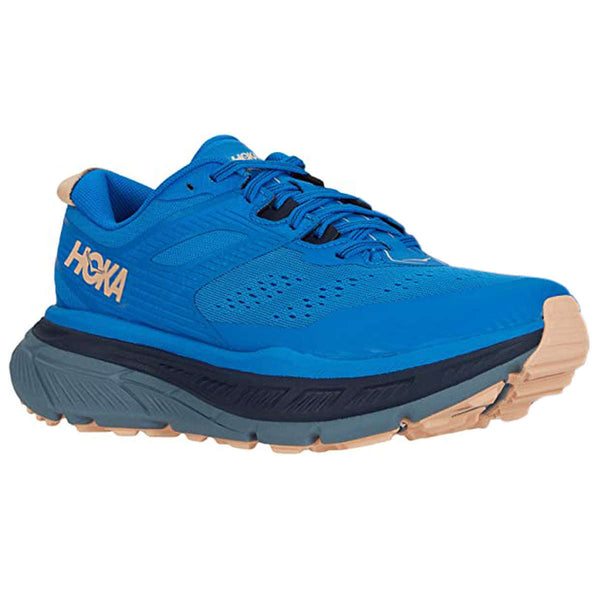 Hoka One One Stinson ATR 6 Textile Synthetic Womens Trainers#color_indigo bunting bleached apricot