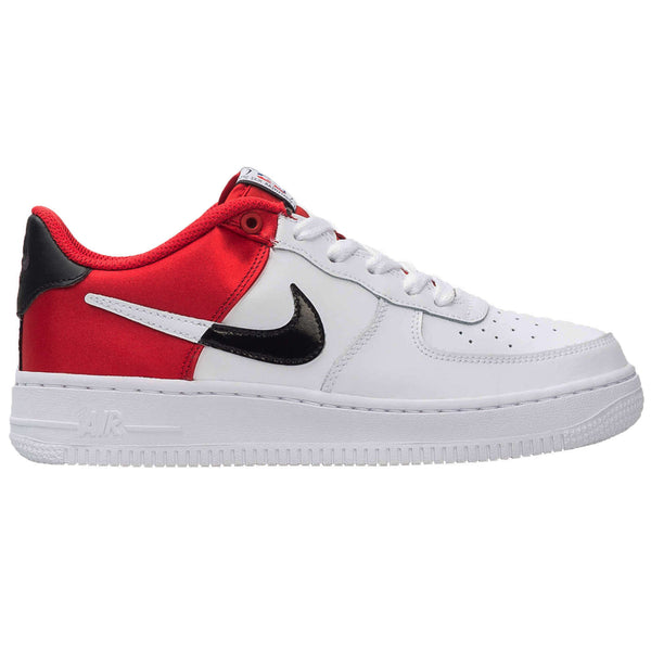 Nike Air Force 1 LV8 1 GS Leather Textile Youth Trainers#color_university red white black