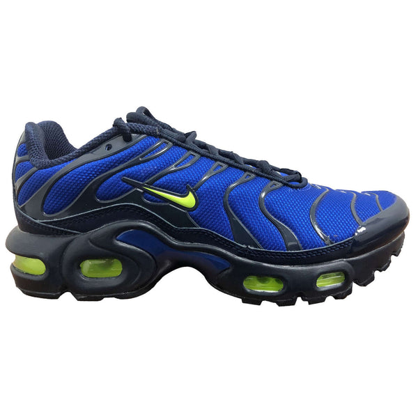 Nike Air Max Plus GS Synthetic Textile Youth Trainers#color_hyper royal volt obsidian