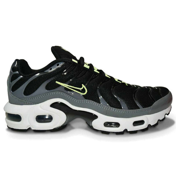 Nike Air Max Plus GS Synthetic Textile Youth Trainers#color_black smoke grey