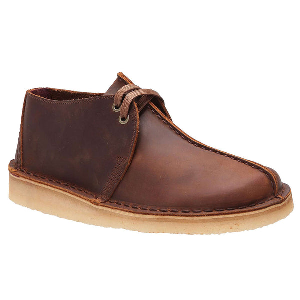 Clarks Originals Desert Trek Leather Mens Shoes#color_beeswax