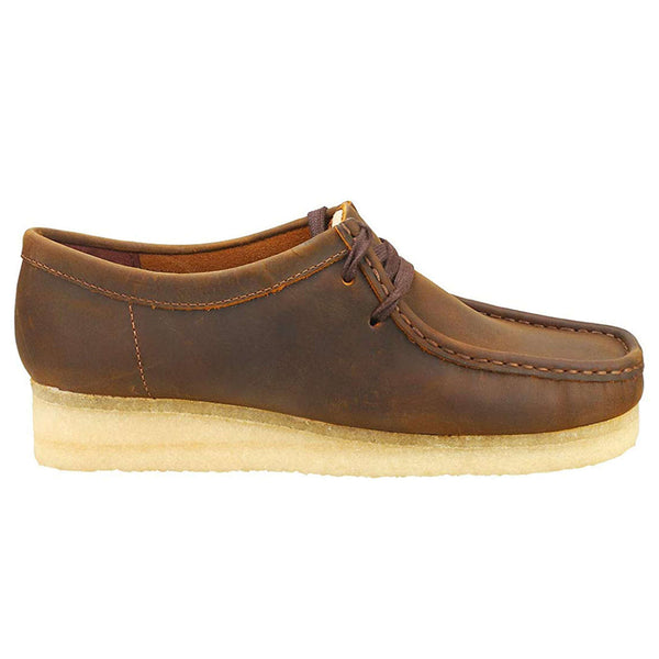 Clarks Originals Wallabee Leather Womens Shoes#color_beeswax