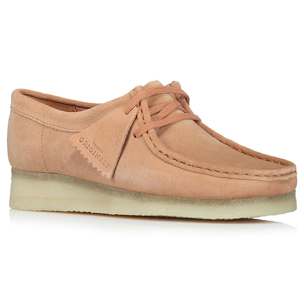 Clarks Originals Wallabee Suede Leather Womens Shoes#color_sandstone