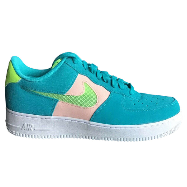 Nike Air Force 1'07 LV8 Suede Textile Unisex Trainers#color_oracle aqua ghost green
