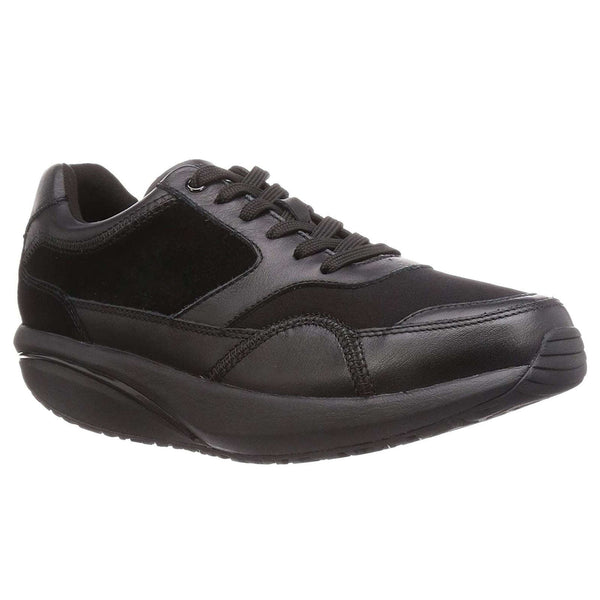 MBT Osaka Leather Textile Mens Trainers#color_black