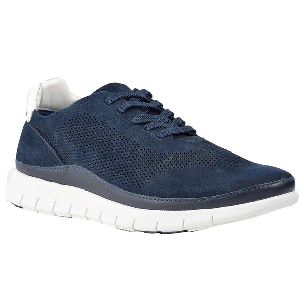 Vionic Fresh Tucker Nubuck Mens Trainers#color_navy