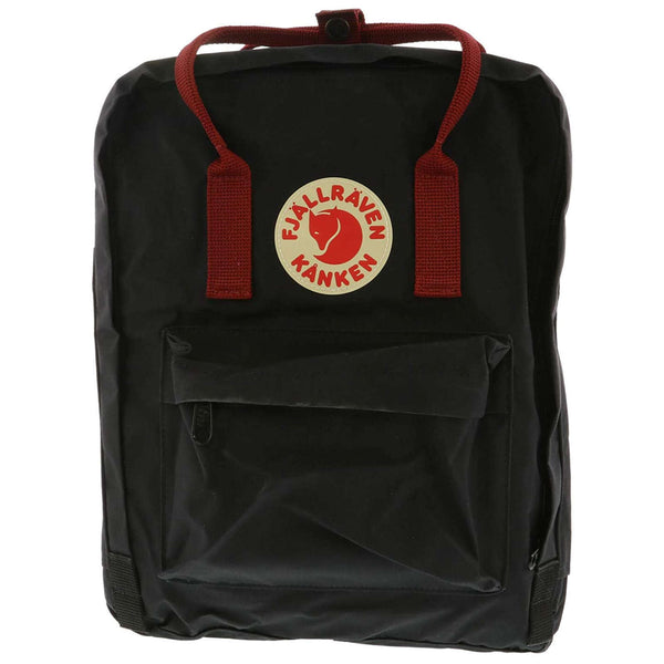 Fjallraven Kanken Synthetic Textile Unisex Accessories Bag#color_black ox red