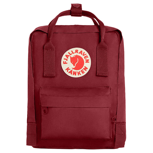 Fjallraven Kanken Mini Synthetic Textile Unisex Accessories Bag#color_ox red