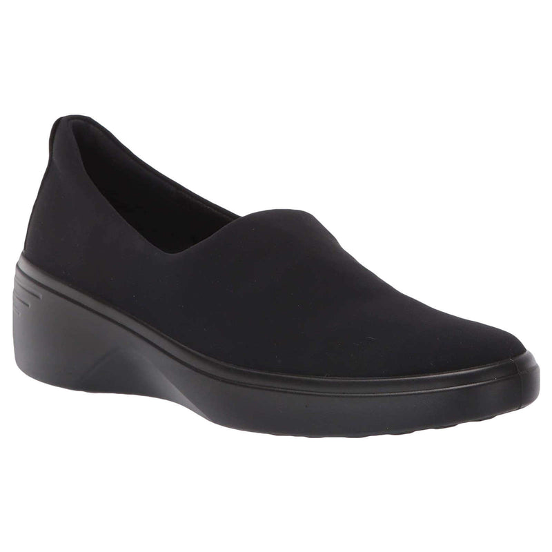 Ecco Soft 7 Wedge Textile Womens Shoes