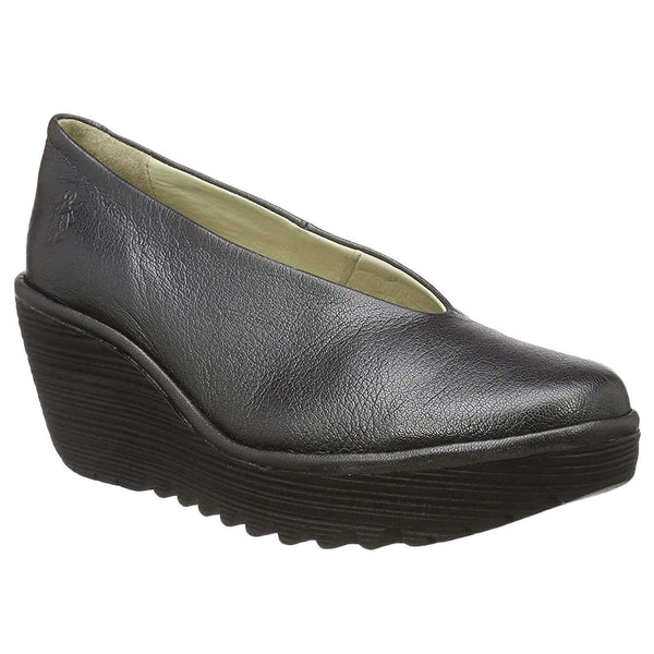 Fly London Yaz Idra Leather Womens Shoes#color_graphite