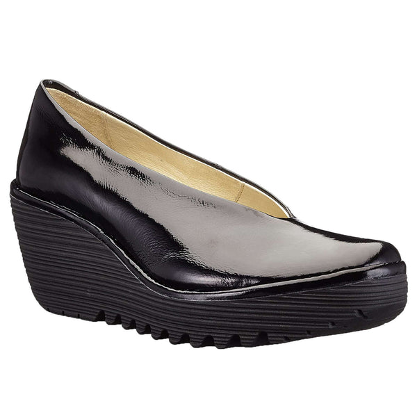 Fly London Yaz Luxor Leather Womens Shoes#color_black