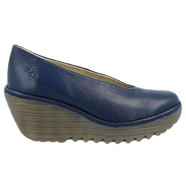 Fly London Yaz Mousse Leather Womens Shoes#color_blue